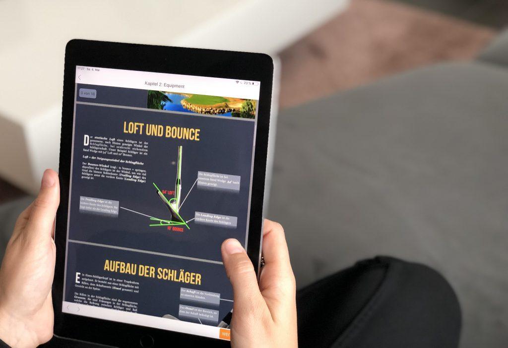 online Golf spielen lernen auf iPad