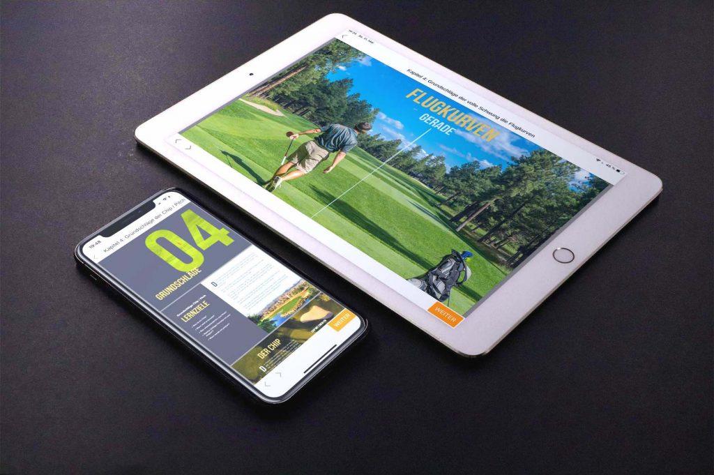 iPad und iPhone mit online Golfkurs