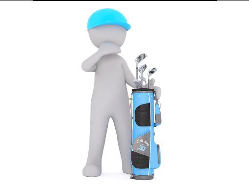 Person mit Golfschläger Set für Anfänger