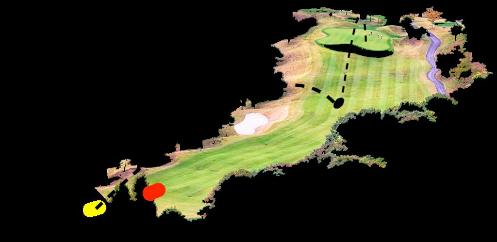 Golfplatz Loch Par 4